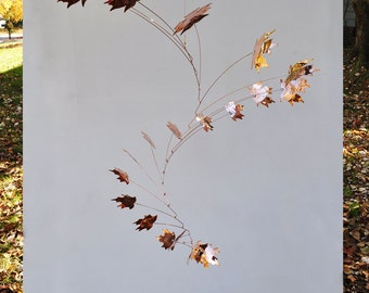 Free Shipping on Copper Mobile with 21 Leaves