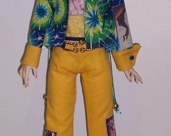 OOAK Michael jackson tribute set for 58 to 60cm BJD super dollfie girls