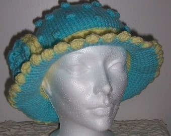 OOAK childrens hand knitted hat