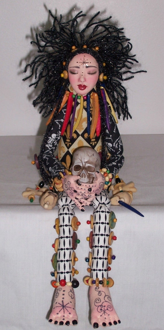 OOAK Cloth doll By Charie Wilson