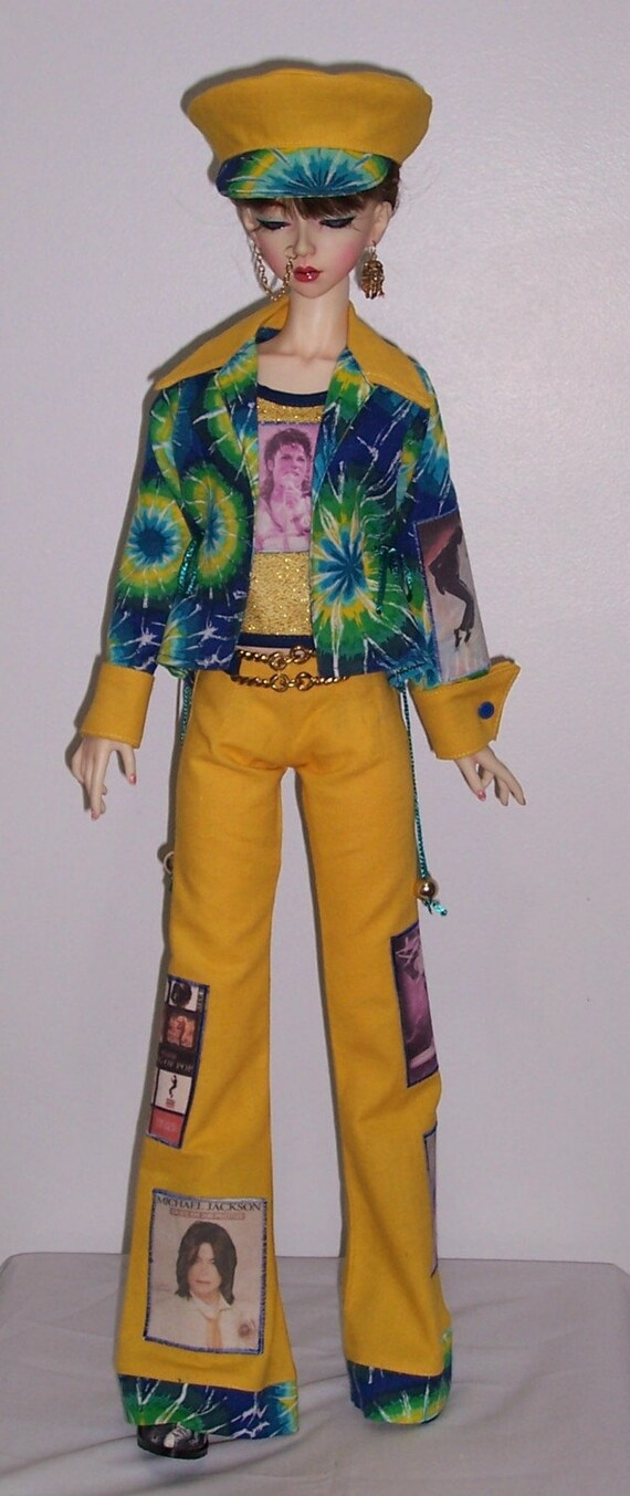 OOAK Michael jackson tribute set for 58 to 60cm BJD super dollfie girls