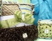 Custom Baby Blankie Gift Set reserved for Sheri