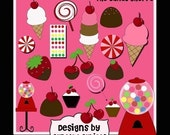 Candy Shoppe Elegant Digital Clip art collection 18 Elements