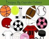 Sports Star Element Clip art Digital Embellishments Commercial Instant Download