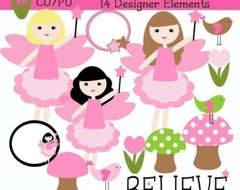 Fairytastic Fairy Clipart Commercial use InStaNt DoWnLoAd