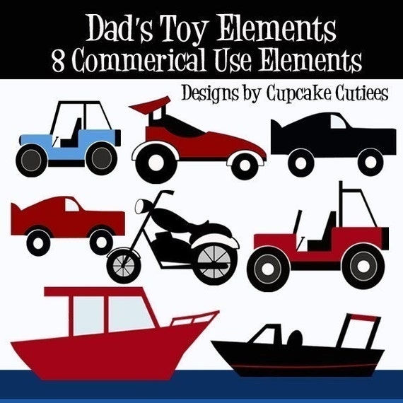 Toys For Dads : Dads toys clipart commercial use for cards by cupcakecutiees