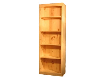 Unfinished Pine Bookcase Bookshelf | Bookshelves | 70