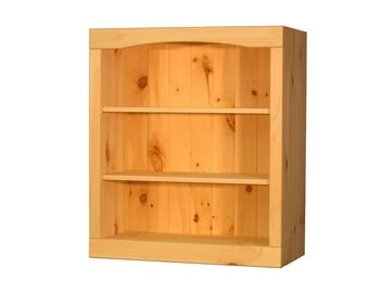 "Solid Pine Bookcase | 24""W x 29""H x 12""D 