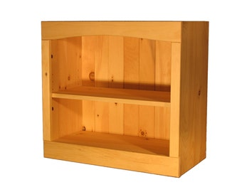 "Solid Pine Bookcase | 30""W x 23""H x 12""D 