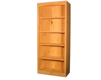 "Solid Pine Bookcase | 30""W x 58""H x 12""D 