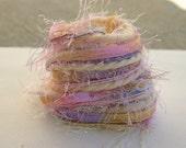 Elegant Spring soft pastel specialty yarn fiber embellishment bundle