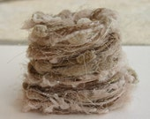 Elegant natural bird nest specialty yarn fiber embellishment bundle