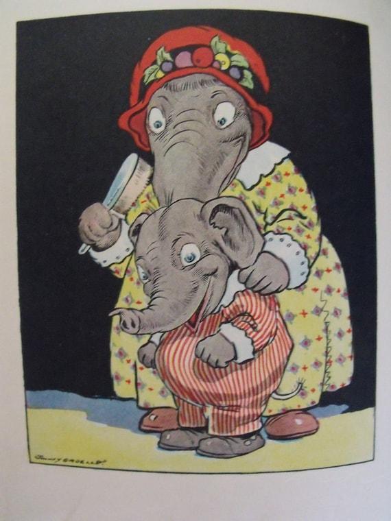 Eddie Elephant - Johnny Gruelle - 1930s Donohue printing