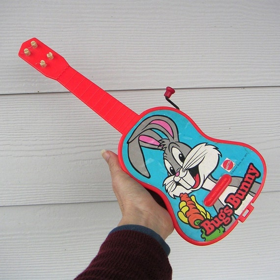 Bugs Bunny toy guitar vintage Mattel