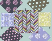 Custom Crib Bedding YOU DESIGN - Botanika in Periwinkle