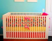 Custom CRIB BUMPER with Three Sides only