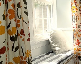 Window Seat Bench Cushion Cover- You Choose the Fabric