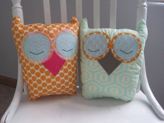 Custom Made Stuffed Owls - Choose your colors