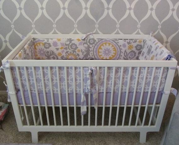 Custom Crib Baby Bedding Set -Crib Bumper, Crib Skirt and Window Panels - Choose your own fabrics