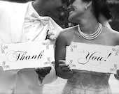 THANK YOU Signs-  Wedding Signs - 12x6 Set of 2 Wedding photo props! Thank you note photos