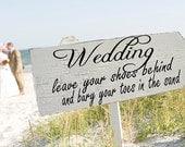 Beach Wedding Signs Wedding Decorations ARROW 24x8
