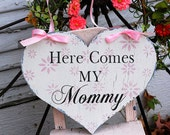 Here Comes The BRIDE Heart Wedding signs Wedding Decorations Flower Girl Ring Bearer 11x14