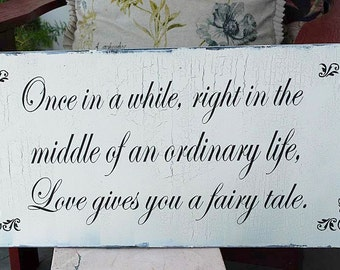 ONCE In A WHILE... Wedding Signs 12x24 Cottage Signs, Vintage Style Home Decor, Wedding Decor