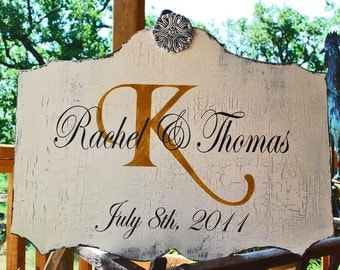 BRIDE and GROOM, Wedding Signs, WEDDING Decoration, Anniversary Sign, Home Decor, Vintage Style 24x17