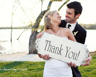 THANK YOU Wedding Signs Wedding Decorations 24x10 Photo Props for Thank You Notes