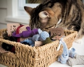Catnip Cat Toys, Small Felted Wool Mice, Perfect for Fetch, Set of Three , Eco-Friendly, Ready to Ship, Marvelous  Melissa