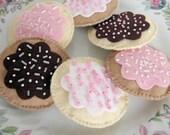 Pretend Cookies Felt Play Food Beaded Cookies MADE TO ORDER