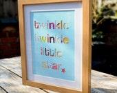 Twinkle Twinkle - Framed Collage Nursery Picture - 28cm x 23cm