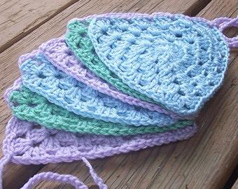 Crochet Pastel Bunting - Pastel Triangle Banner - Triangle Garland - Triangle Bunting - Crochet Banner - Crochet Garland