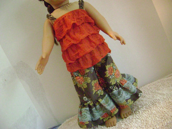 M2M Matilda Jane Ruffle Pant and Top Set for American Girl 18'' Doll