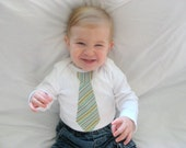 Cute baby or toddler boy long sleeved onesie with necktie applique- ANY SIZE available Unique gift idea
