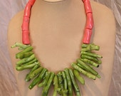 Green Branch Coral Necklace