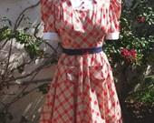 1930s dress with contrast yoke fabulous silhouette