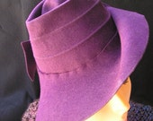 Aubergine Wool Hat