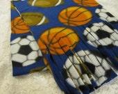 Play Ball Winter Fleece Scarf  Soccer Basketball Football