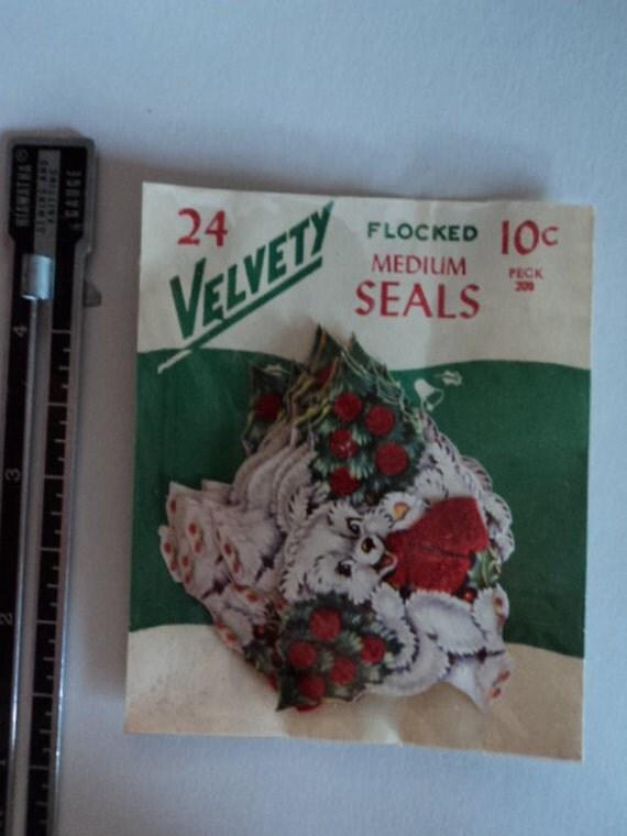 Bear Flocked Medium Seals