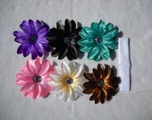 Tropical Princess Bling Flower Set..6 Flowers and 1 Headband..ADORABLE FOR PICTURES
