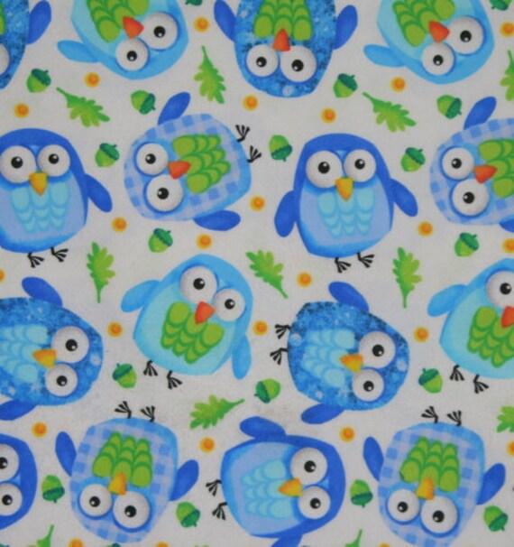 Owl flannel 2 yards