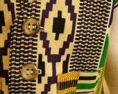 African Kente print baby waistcoat