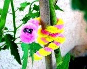 Garden Buddies - Fuzzy Worm Pipe Cleaner Plant Ties (Set of 4)