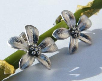 Delicate Spring Flower Post Earrings