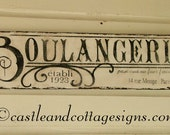 Boulangerie French Bakery Vintage sign handpainted 36x9