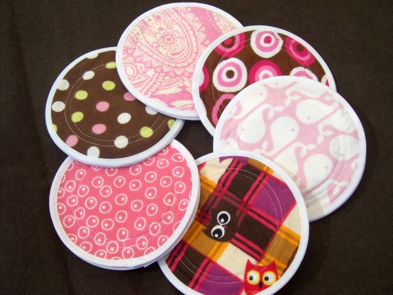 Charis Baby Designs Cloth Nursing  Pads waterproof  PUL flannel zorb washable reusable  6 pairs