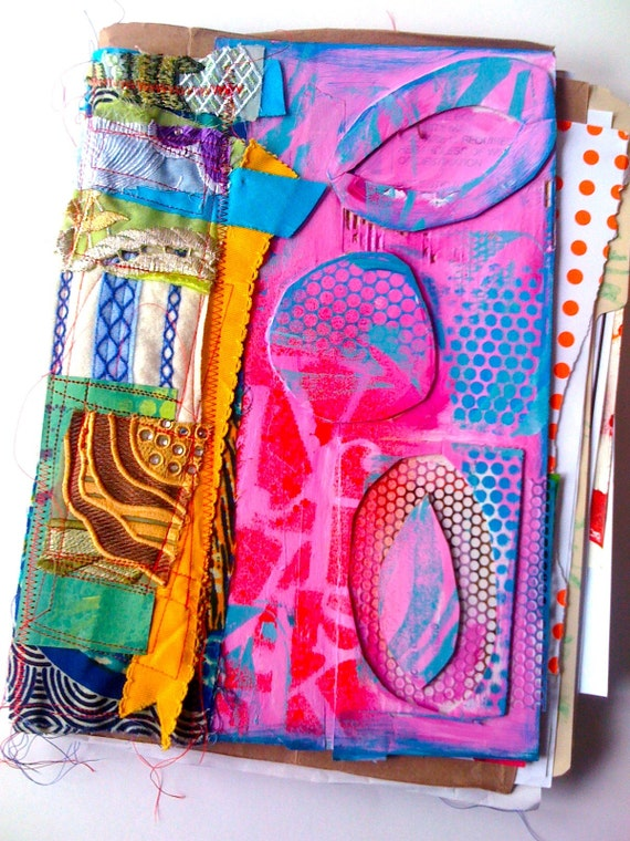 recycled REMNANTS art journal by Traci Bautista