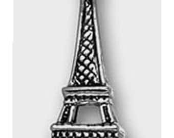 Eiffel Tower Sterling Silver Charm -- Complimentary RIbbon or Cord