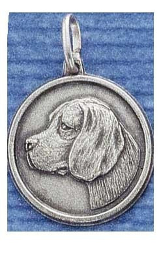 Beagle Sterling Silver ID Charm -- Complimentary Ribbon or Cord